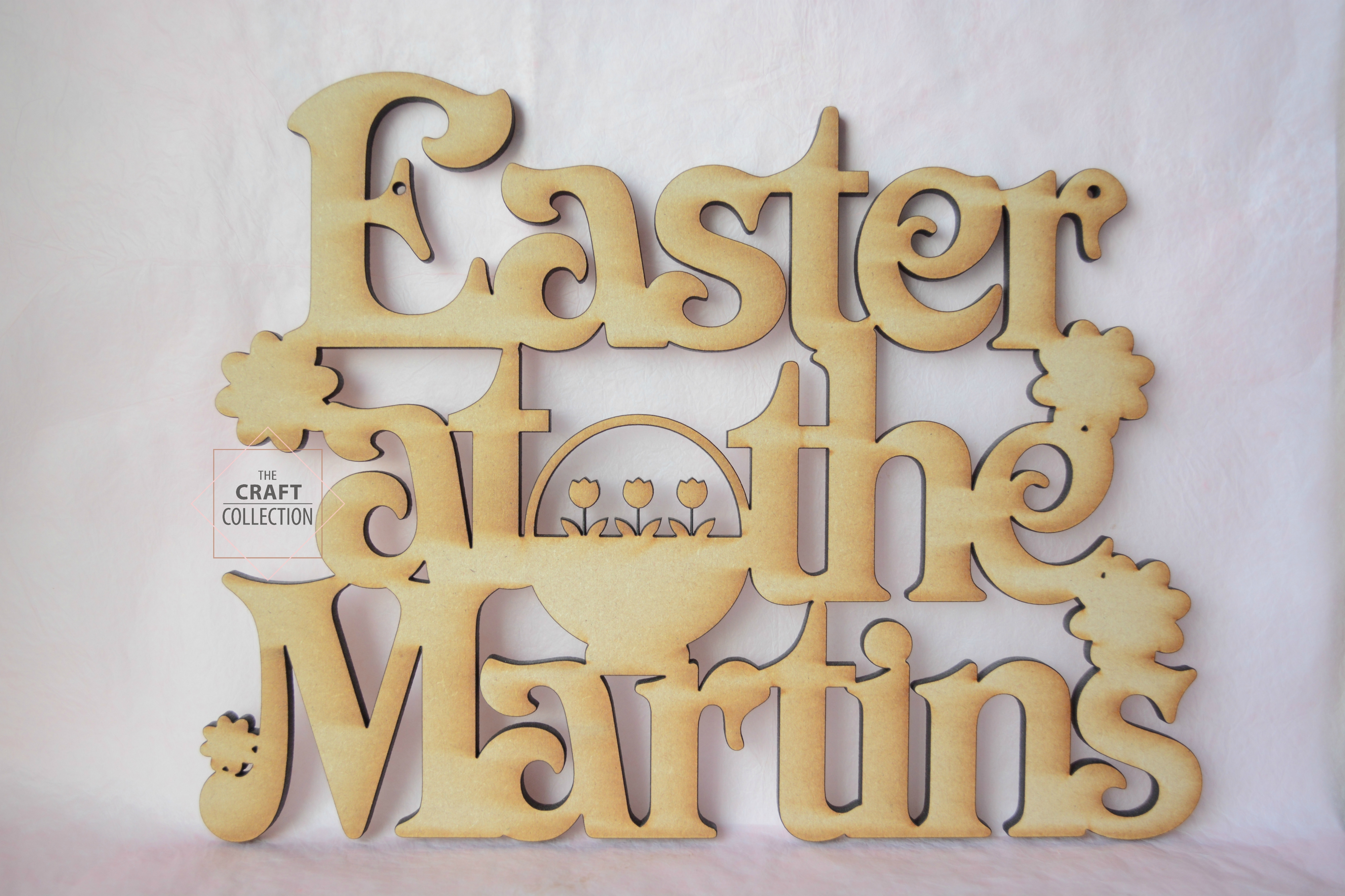 Easter At The Surname Sign Personalised Easter At The