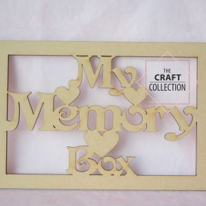 My Memory Box Box Topper Framed Craft Shape Sales Craft shapes Supplier Ireland The Craft Collection