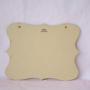 Curved Blank Plaque by The Craft Collection craft shape supplies Ireland. Blank Plaques, blank hanging signs