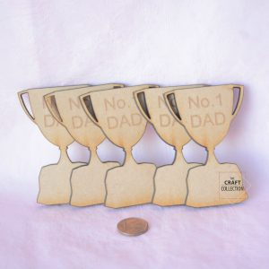Number 1 Dad Trophy Craft Shapes, Craft Shapes Supplier Ireland, Father's Day Craft Shape Packets