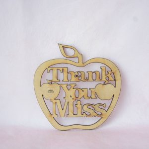 Thank You Miss Hanging Apple, school craft shapes, laser cut craft shapes Ireland, MDF craft Shapes Ireland, The Craft Collection