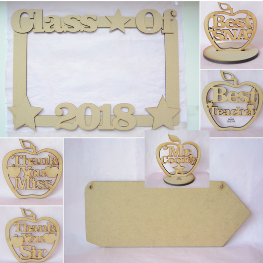 Teacher Craft Shapes Sample Pack by laser cut mdf craft shapes supplier Ireland The Craft Collection